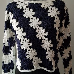 Vintage Paris Sport Club Knitted Top OS